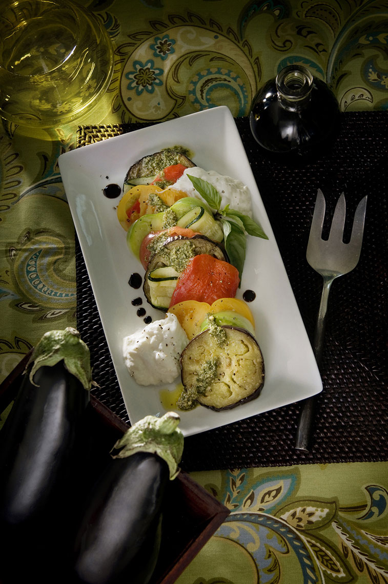 Beautiful-food-photography-of-eggplant-caprese-by-Joe-Atlas.